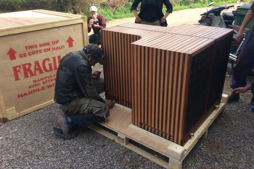 The inner crate of the Alfasud being finalized in 2018 (Photo Frank Ellenberger)